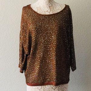 Sequined/brown top